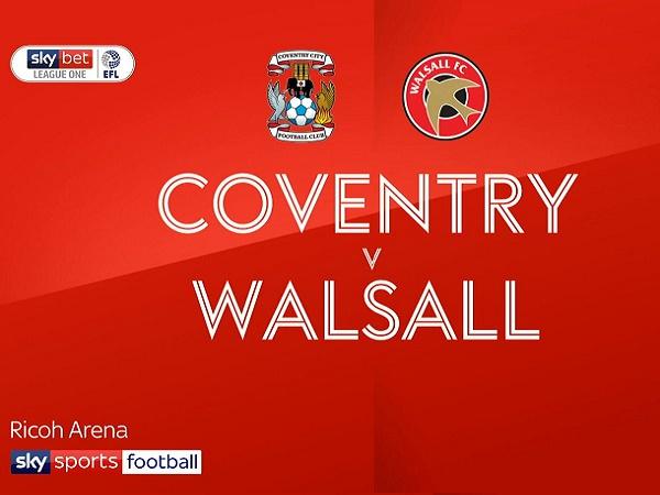 Nhận định kèo Coventry vs Walsall 1h45, 4/09 (EFL Trophy)