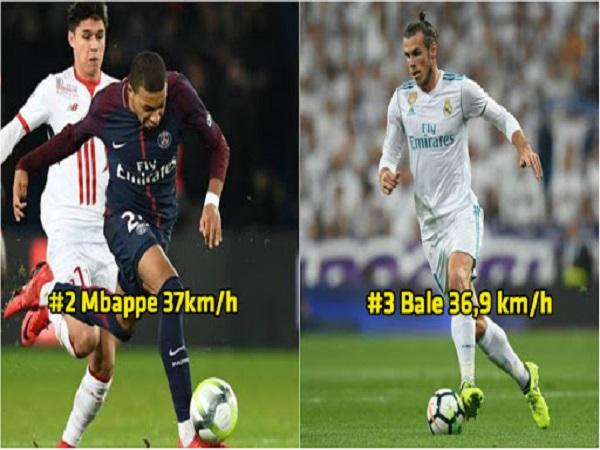 Top 5 cầu thủ chạy nhanh nhất thế giới
