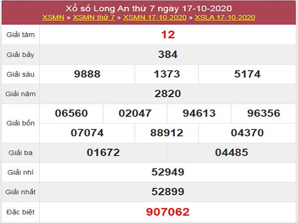 Phân tích KQXSLA ngày 24/10/2020- xố số long an cùng chuyên gia