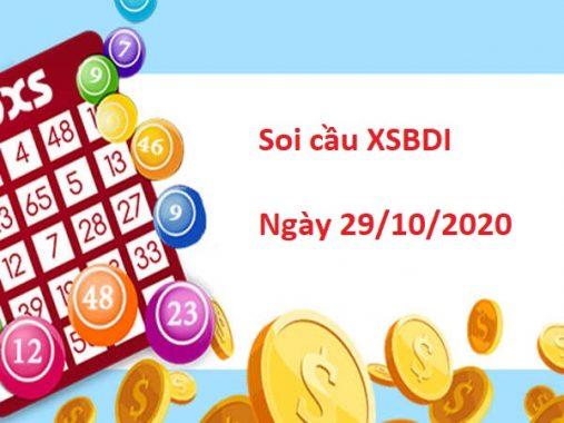 Soi cầu XSBDI 29/10/2020 – Soi cầu xổ số Bình Định  thứ 5