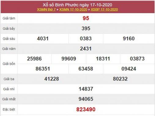 Thống kê XSBP 24/10/2020, thống kê xổ số Bình Phước