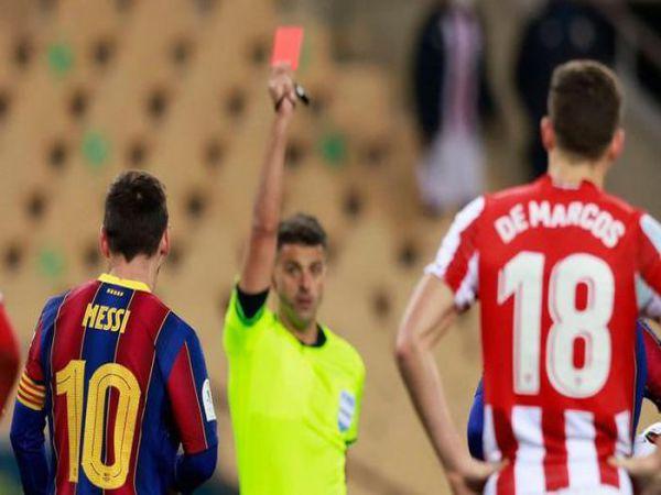 Bóng đá QT trưa 18/1: Lần đầu nhận thẻ đỏ tại Barca