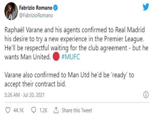 Bóng đá Quốc tế trưa 20/7: Varane xác nhận muốn đến MU